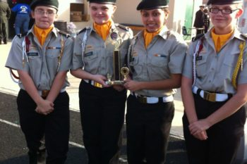 Wordless Wednesday- Girls Color Guard Second Place!