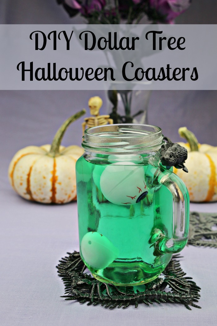 DIY Dollar Tree Halloween Coasters