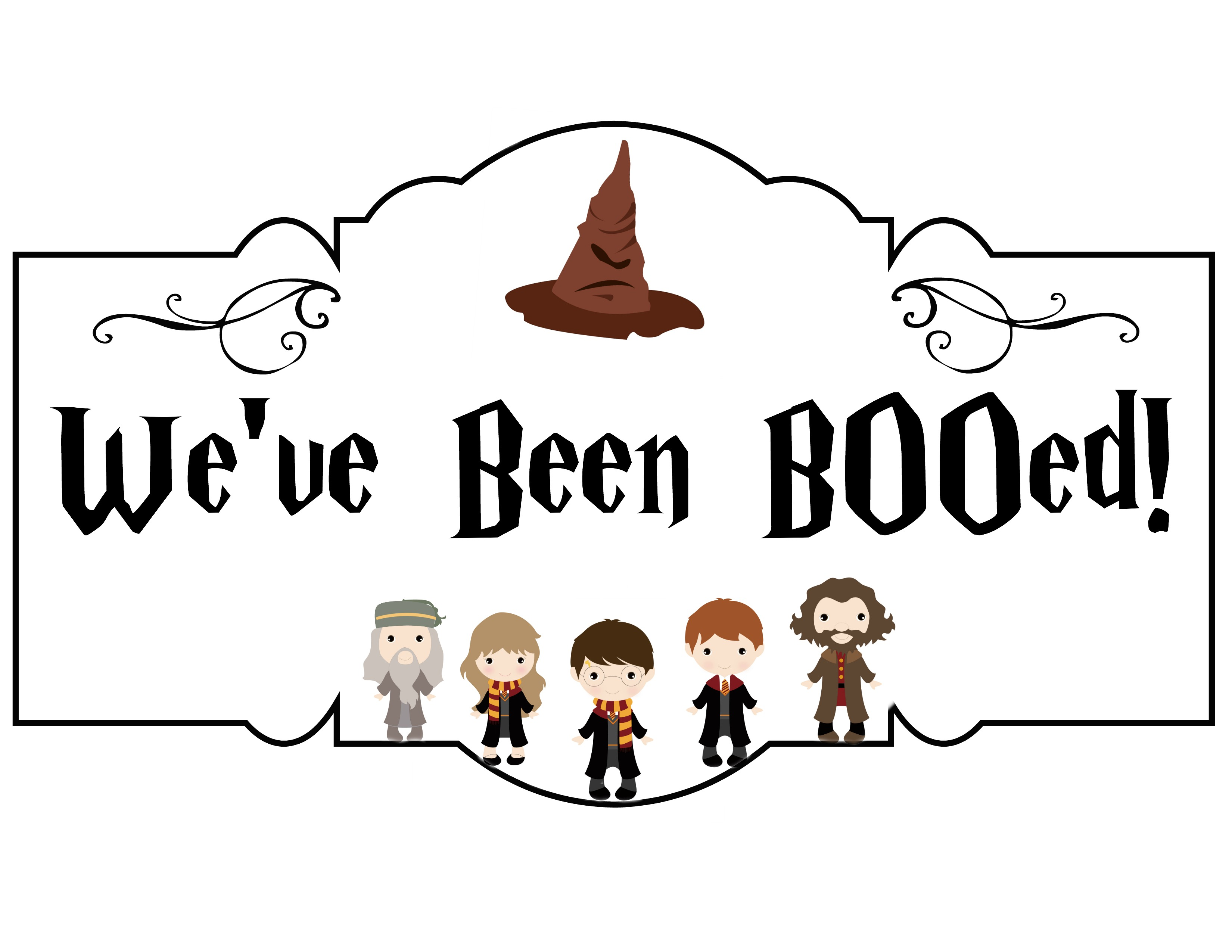 picture regarding We've Been Booed Free Printable named Harry Potter Boo Bag Do-it-yourself - They Speak to Me T